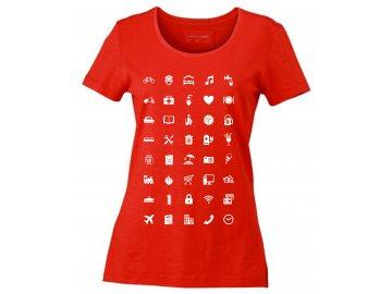 Dámské tričko pro cestovatele Urban World