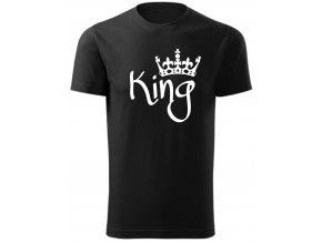 Párové tričko KING černá