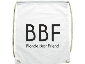 Batoh BBF Blonde Best Friend bílá