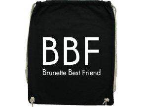 Vak na záda BBF BRUNETTE BEST FRIEND černá