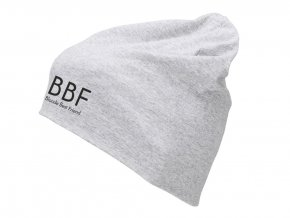 čepice BBF Blonde best friend světle šedá