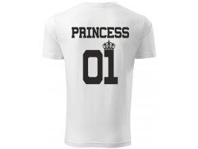 Dětské tričko PRINCESS 01 bílá