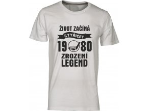 Tričko k narozeninám zrozeni legend 40 hokej navy
