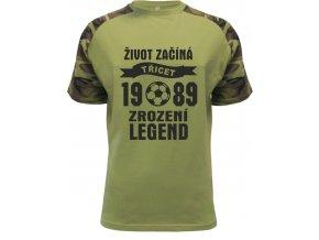 Tričko zrození legend 30 fotbal tyrkysová