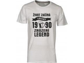 Tričko zrozeni legend 30 červena pivo