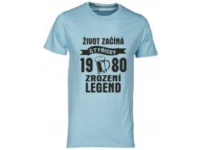 Tričko zrozeni legend 40 pivo sedymelir