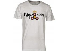 Pánské tričko KING SPIN bílá. potisk FIget Spinner