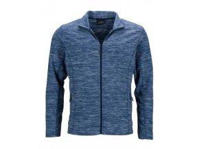 herren melange fleecejacke blau blue melange navy jn770 artfarbe 42075 master 340x400