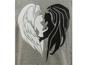Potisk anděl a ďábel bílá-černá