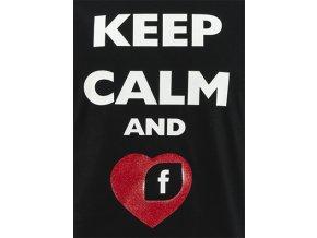 Potisk Keep Calm - love facebook