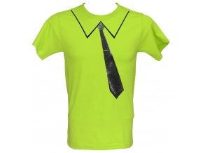 Tričko s glitrovým potiskem kravata