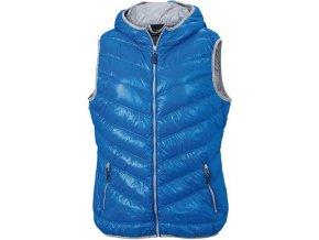 Dámská péřová vesta Down modrá