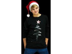 Dětské triko s dlouhým rukávem a potiskem Merry Christmas.