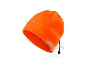 Čepice, nákrčník fleece HV practic fluorescentní