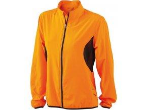 Lehká běžecká dámská bunda, oranžová