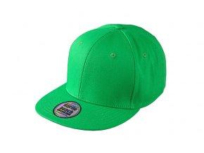 Trendy snapback kšiltovka ve vyšším profilu a rovným kšiltem green