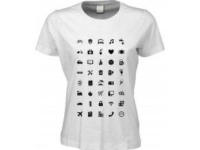 Dámské tričko pro cestovatele WORLD