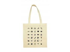 Nákupní taška pro cestovatele přírodní