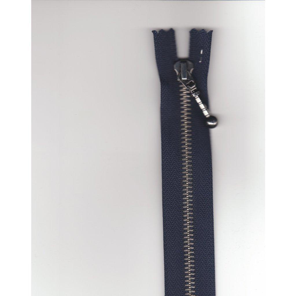 5157 16 cm zip kovovy ykk tm modra