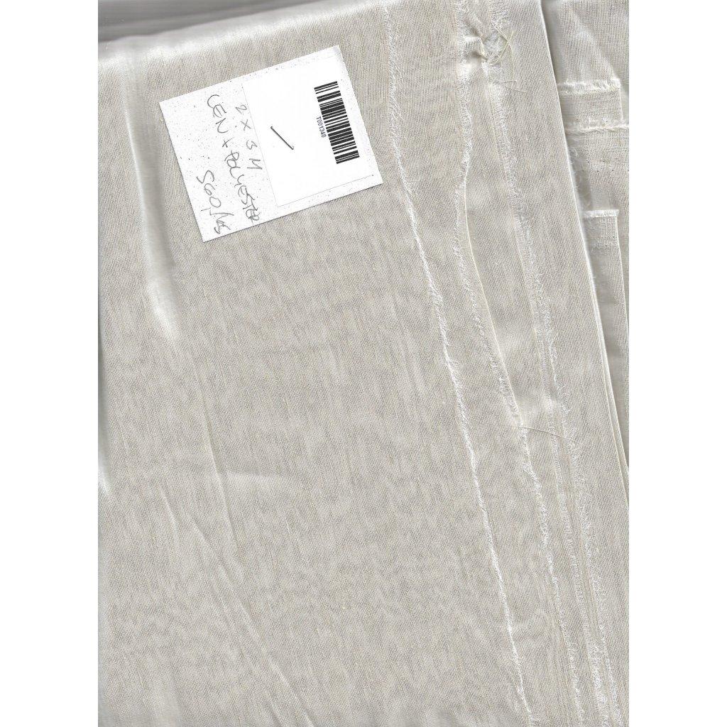 4347 bezovy len polyester