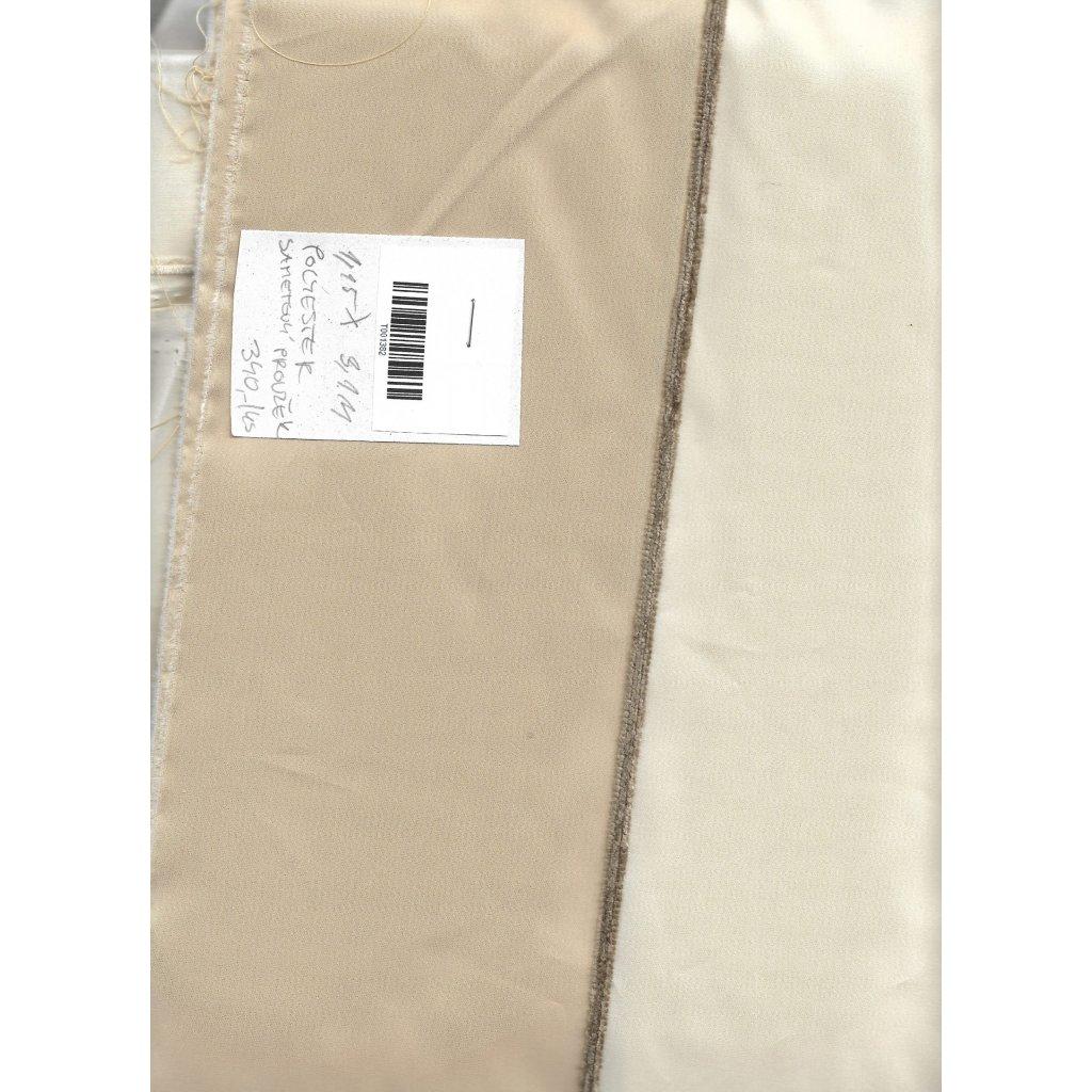4350 bezovy taft polyester sametovy prouzek