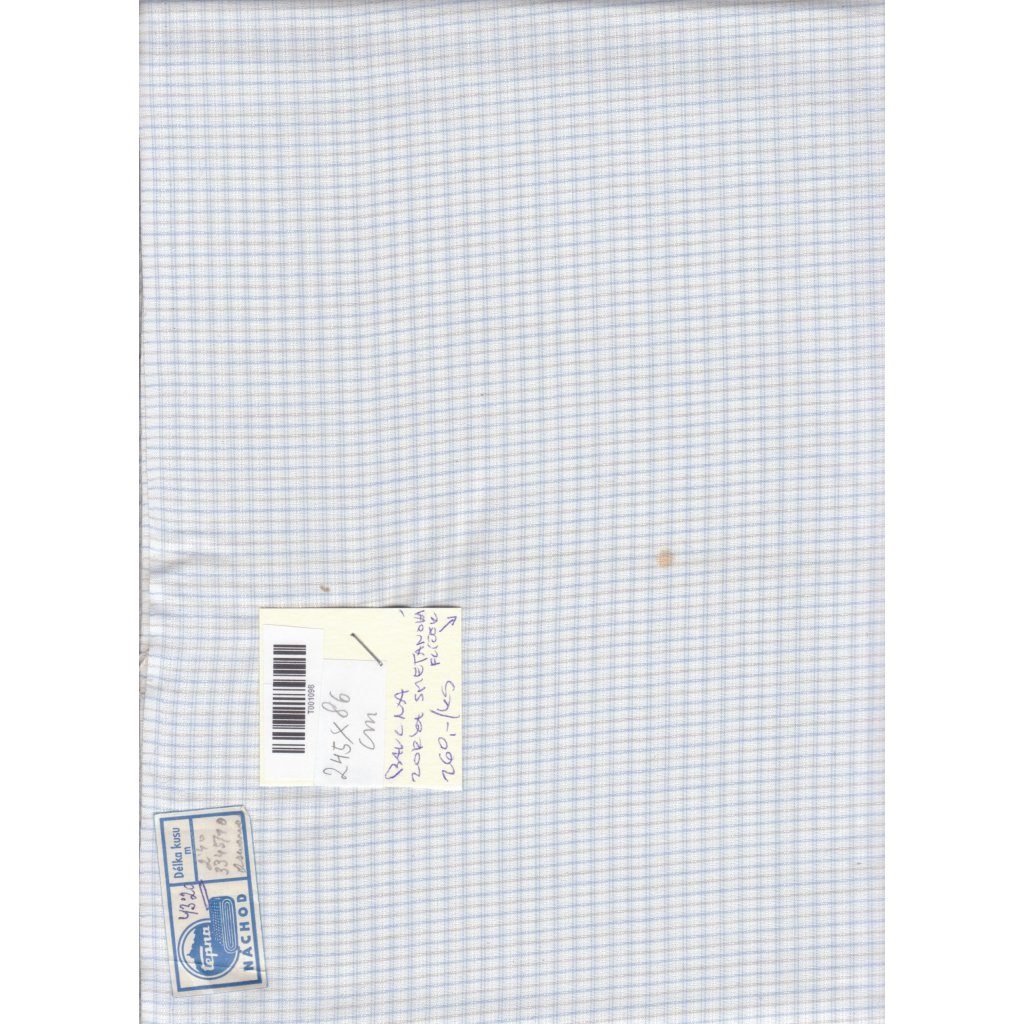 4407 drobna modrobila bavlnena kostka platno