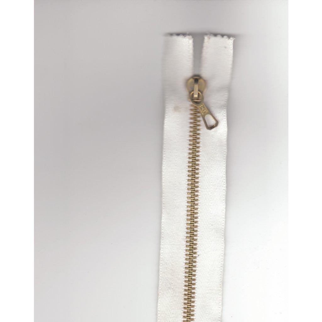 5406 kovovy zip 15cm bila