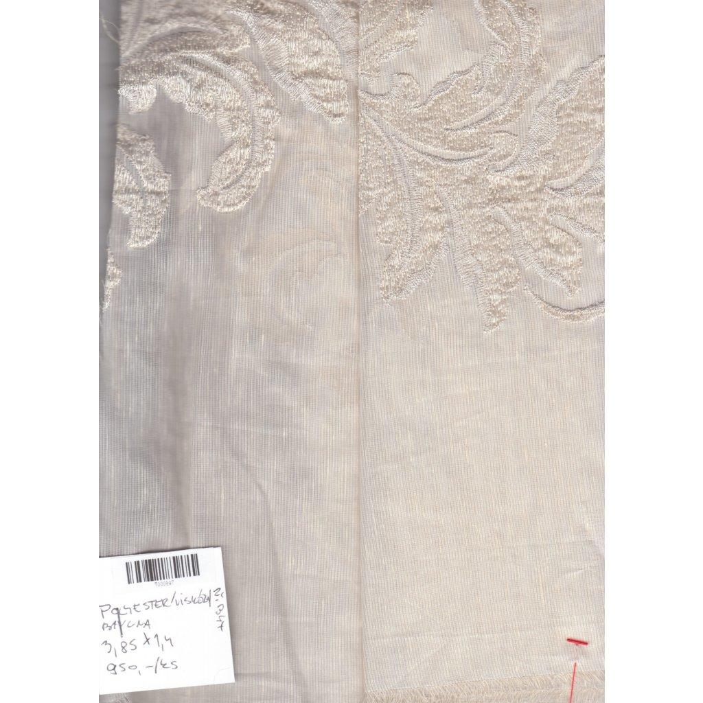 4497 kvetinova vysivka slonova kost stribrna transparentni