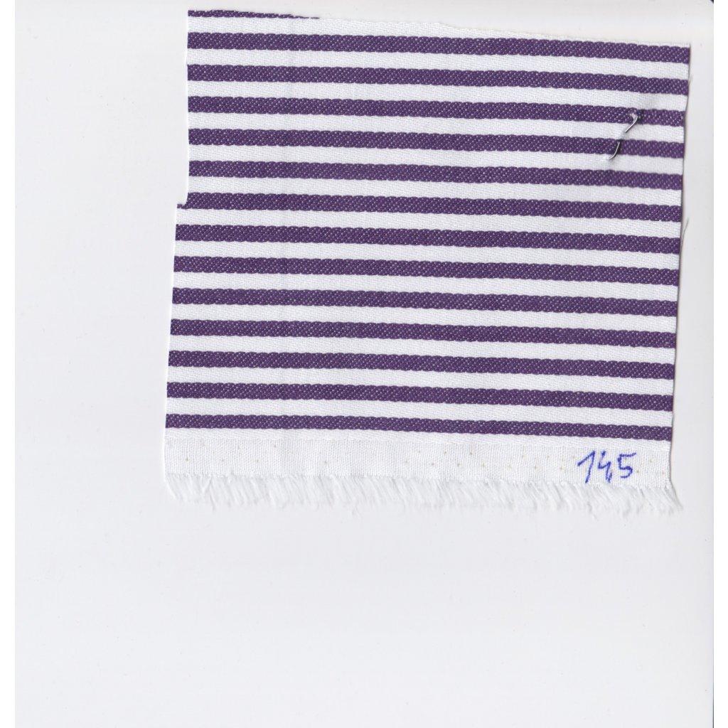5130 prouzek bavlna fialova