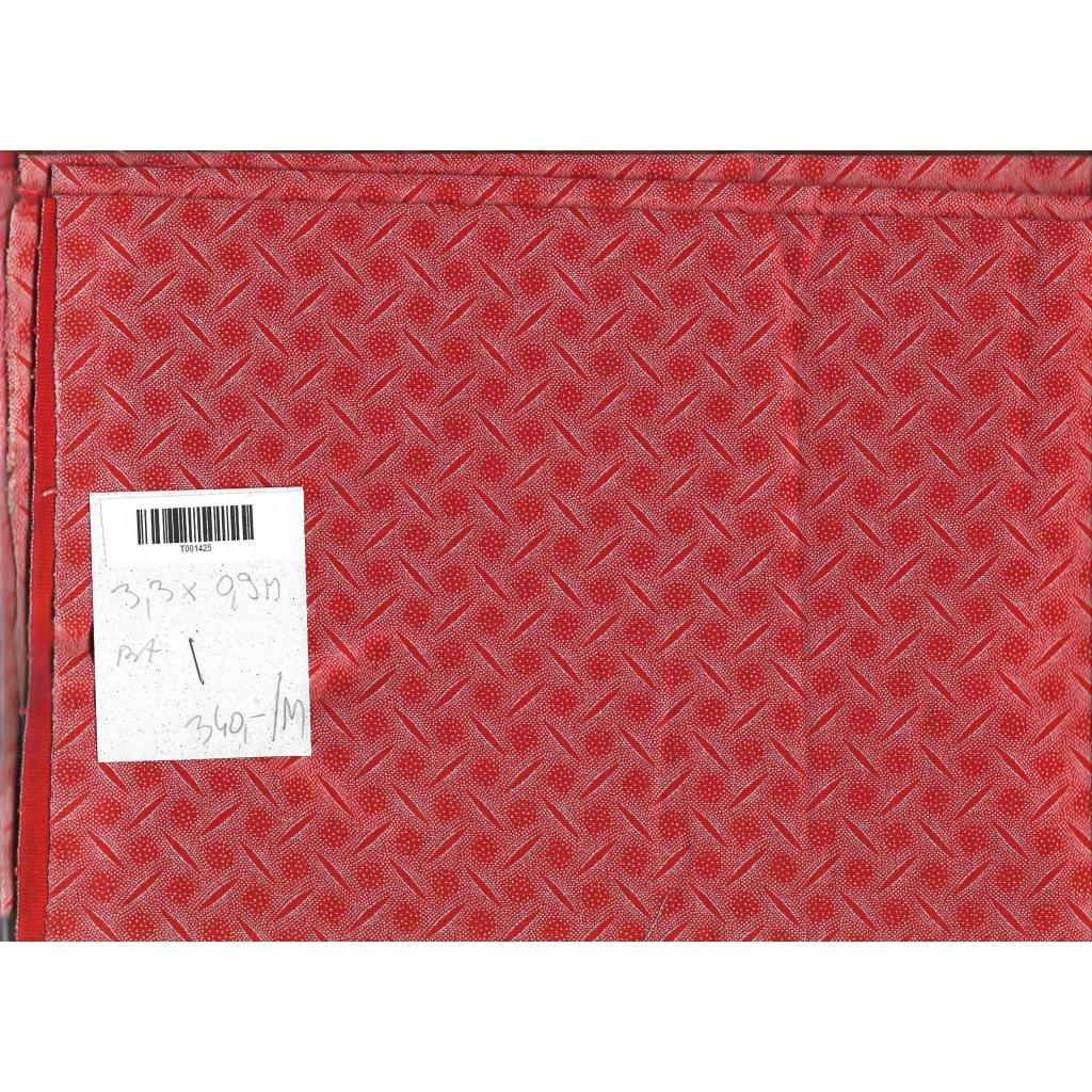 4980 shwe shwe bavlnene platno tisk bilo cerveny novinka