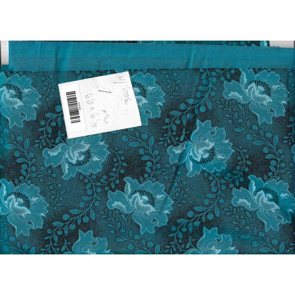 5028 shwe shwe bavlnene platno tisk modre kvetiny novinka