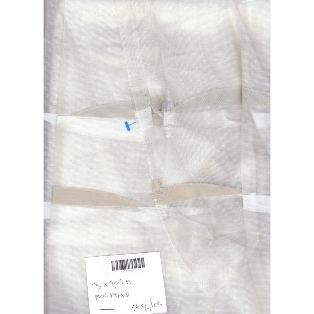 4749 transparentni bily bezovy tkany vzorek