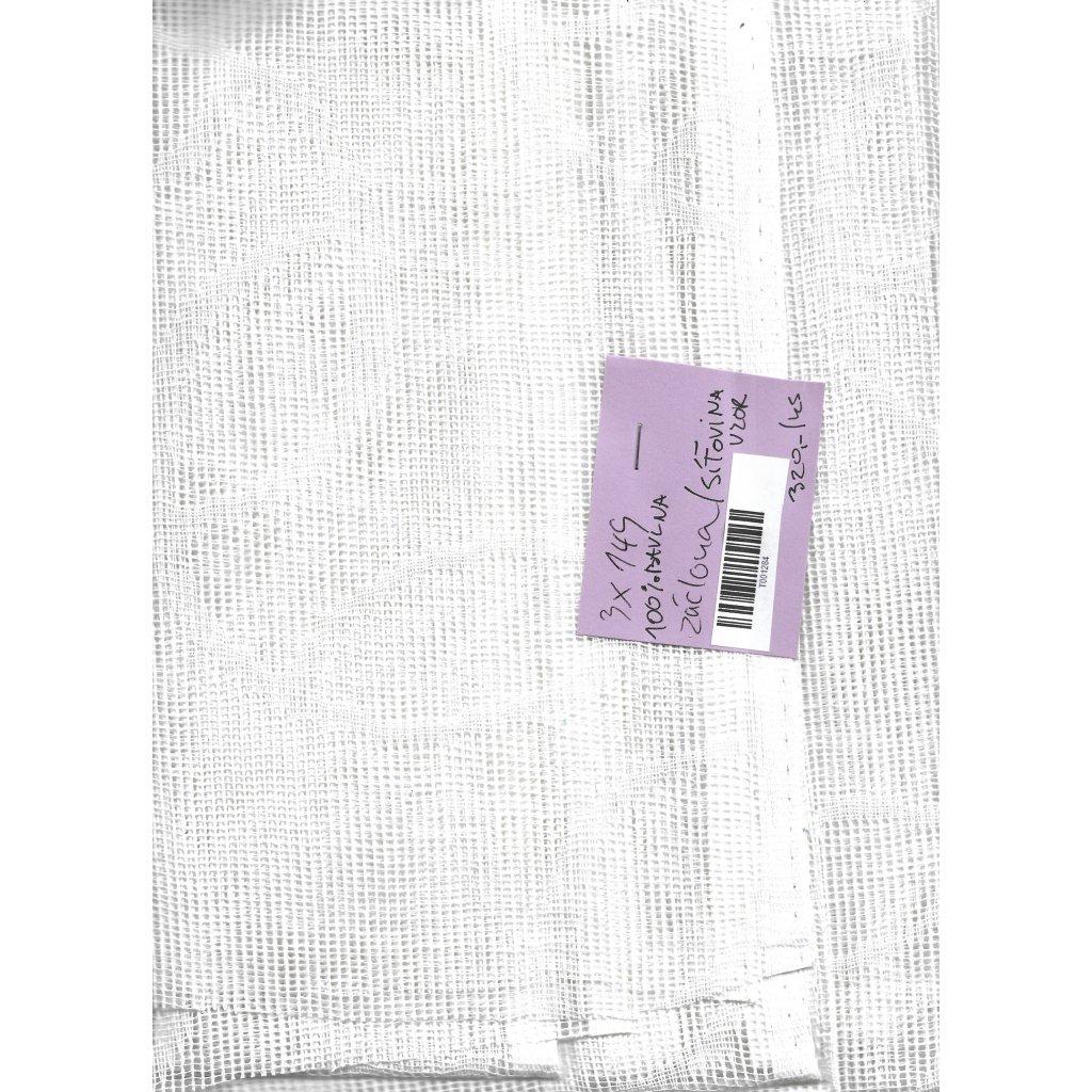 4833 zaclona sitovina vzor bila bavlna 1