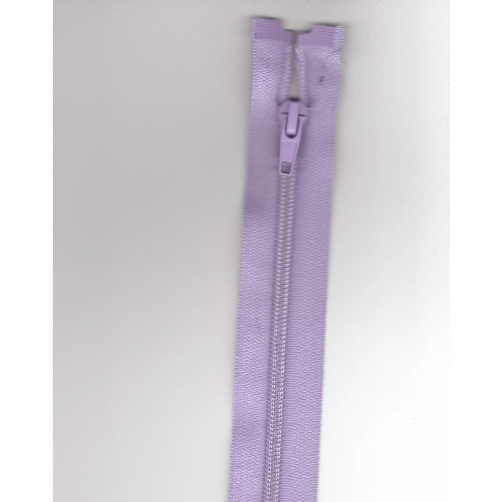 5148 zip lila plast 70cm rozepinaci