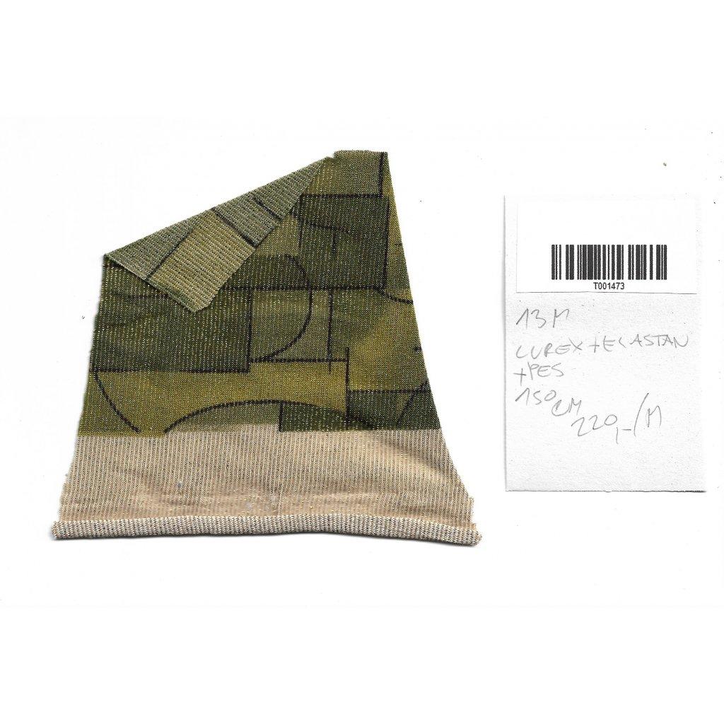 3695 lurex uplet geometricky zelena