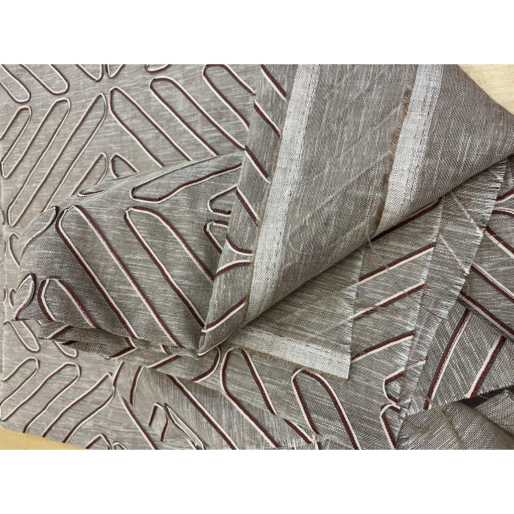 4010 sedy len polyester aplikace drobna stuzka geometricky 2