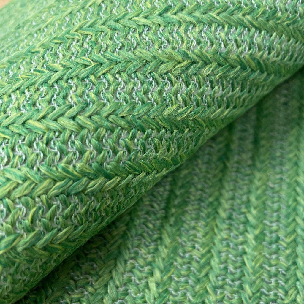 Zelený polyester, podlep netkaná mřížka