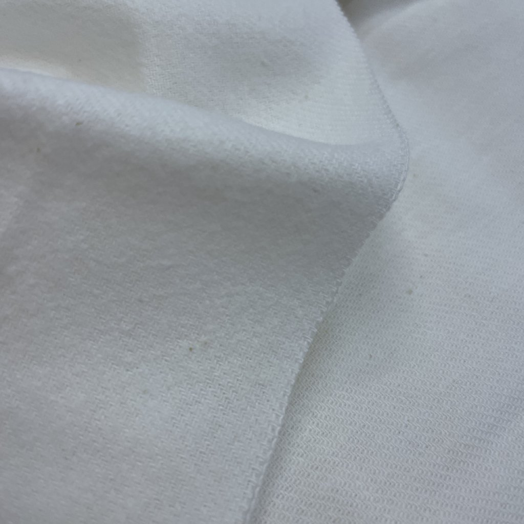 Bílý flanel, bavlna