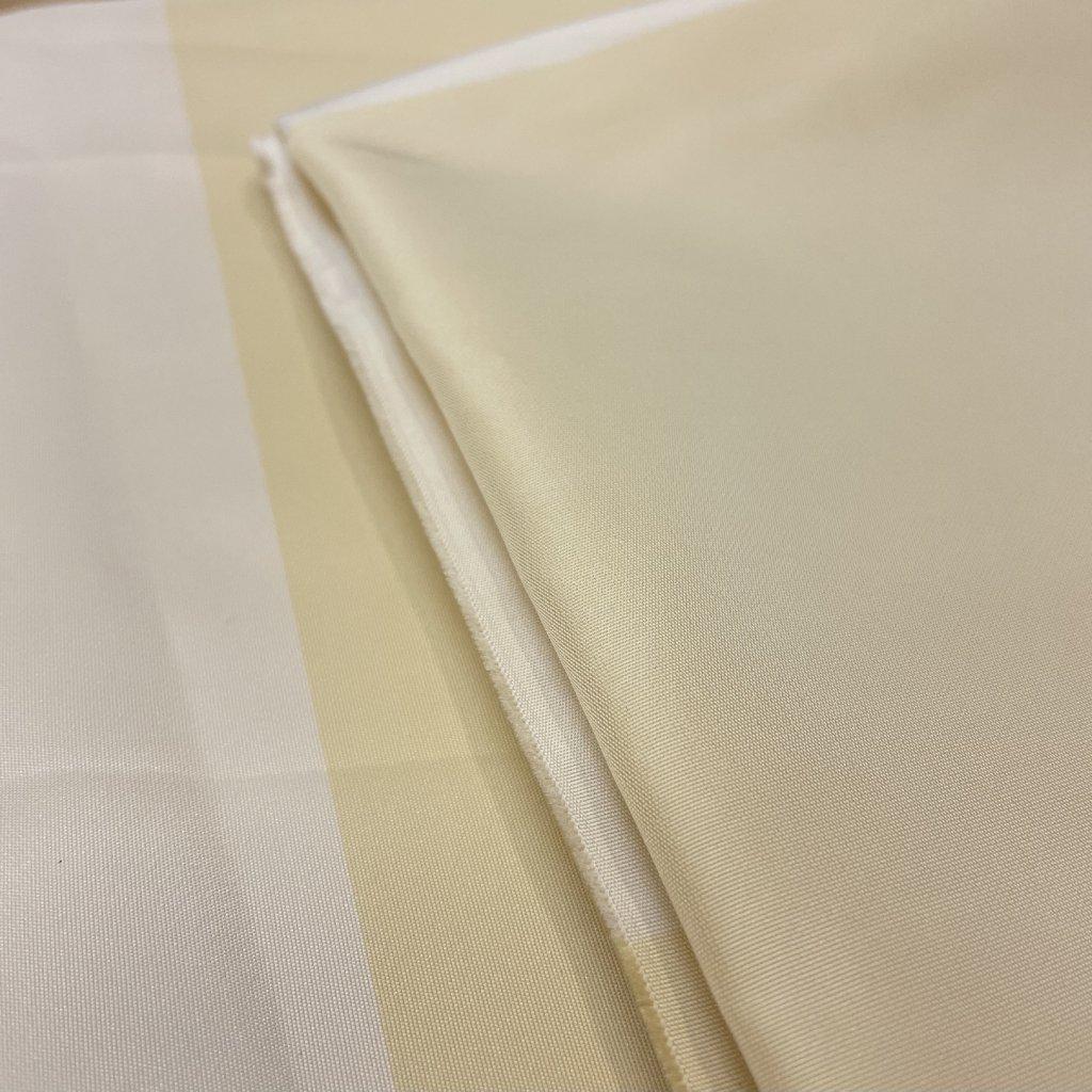 Široké vanilkové pruhy, syntetický taft