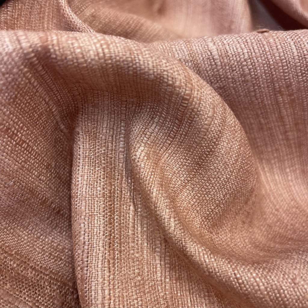 Hedvábný tussah/ jemný buret, starorůžová