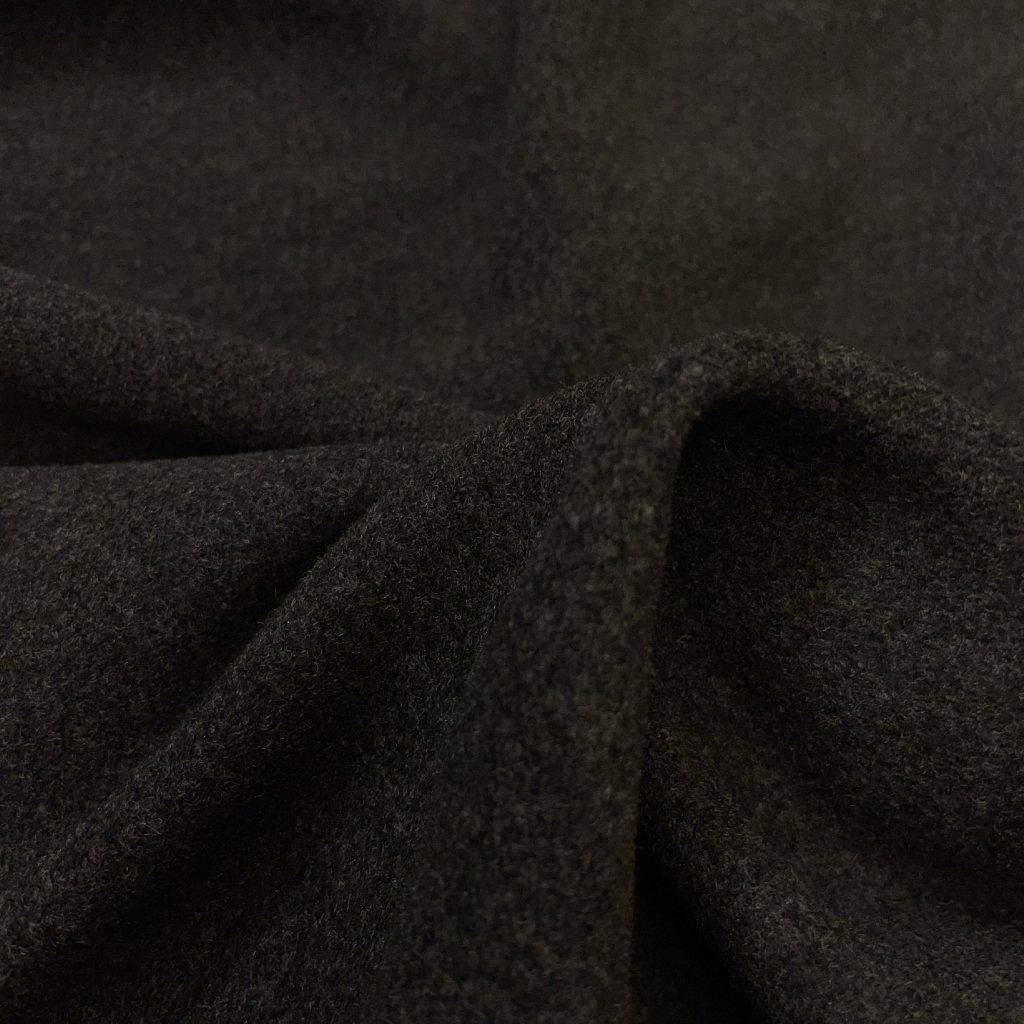 Temně zeleno-šedé kabátové sukno, vlna/PES