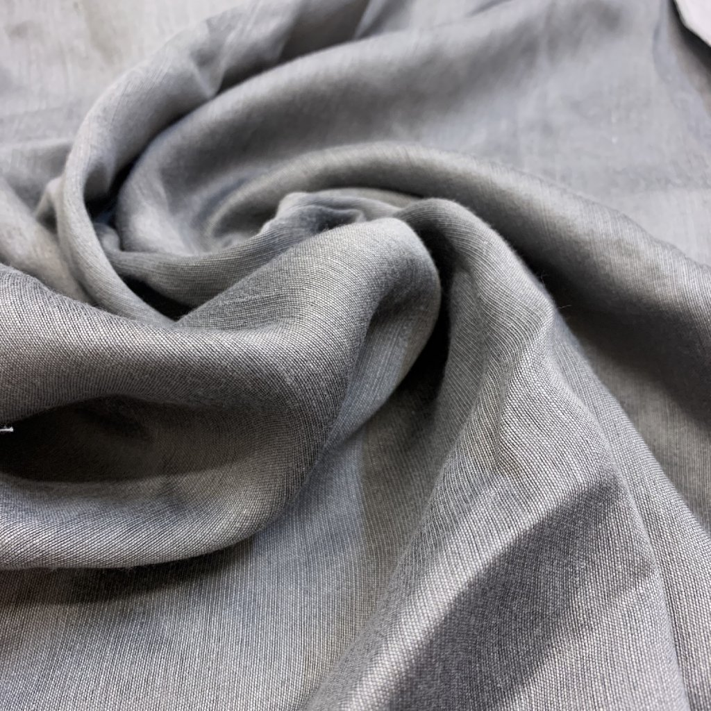 Šedý lehký len/polyester