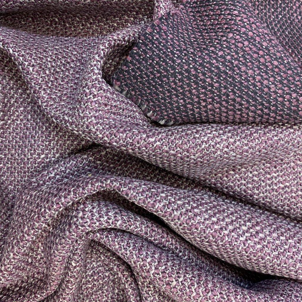 Oboustranný fialový kousek, vlna/syntetická vlákna