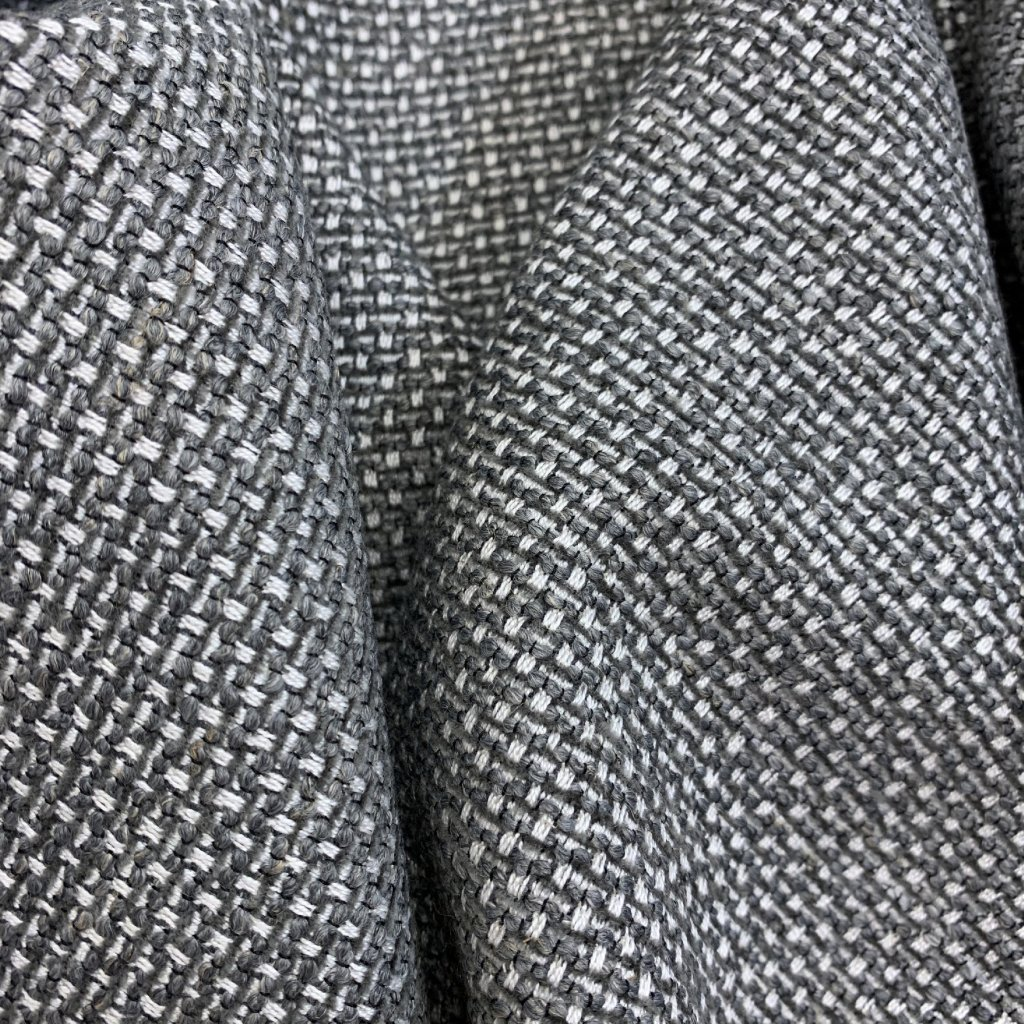 Hrubé šedé plátno, vlna, polyester