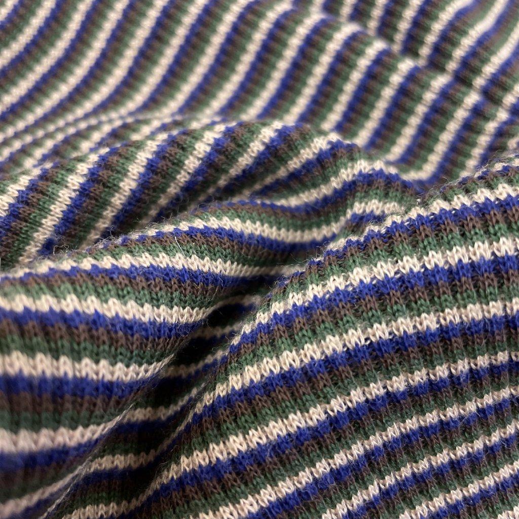 Úplet bavlna, Helenín, khaki modrá, tunel