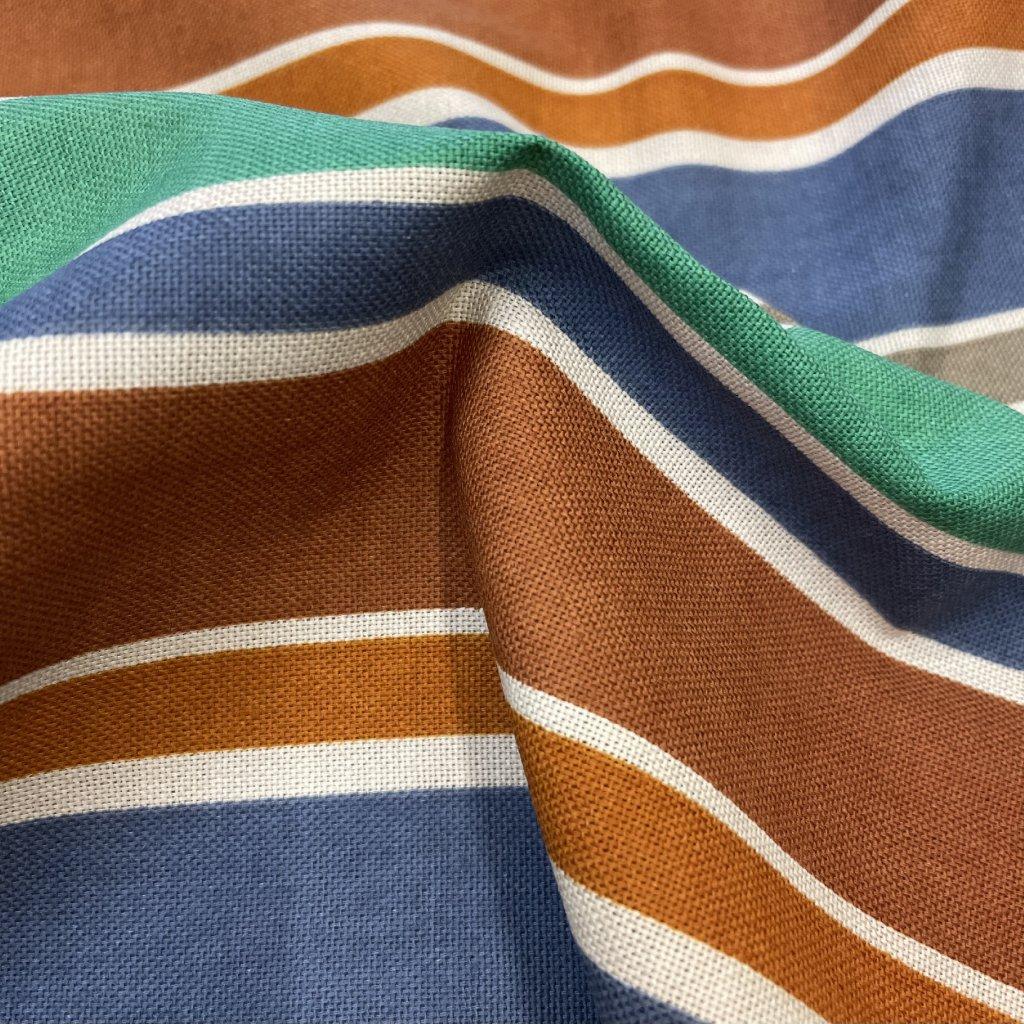 Okrový proužek, bavlněné plátno Tiba