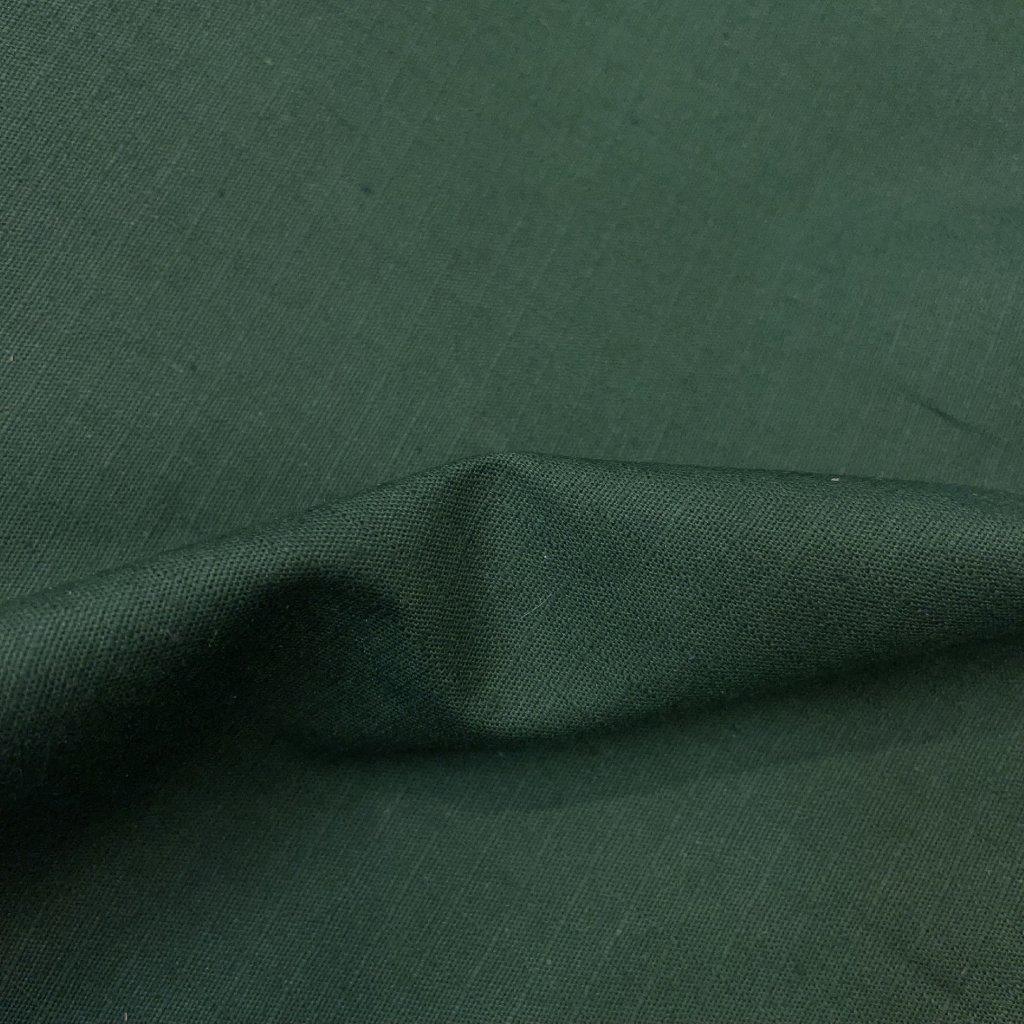 Lahvově zelené pršiPlátno, Tiba, bavlna se zátěrem