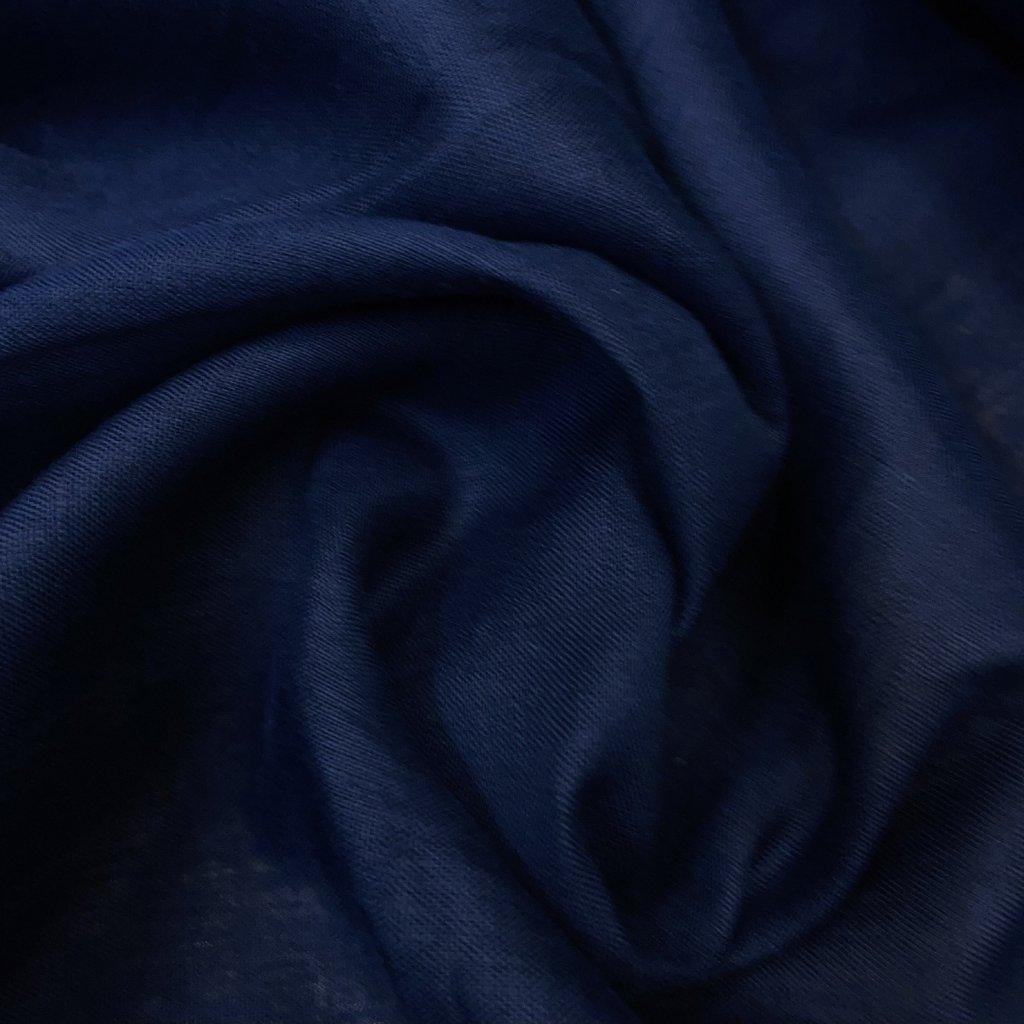 Len Navy, lehoučký, jemně transprentní, košilovka/šatovka