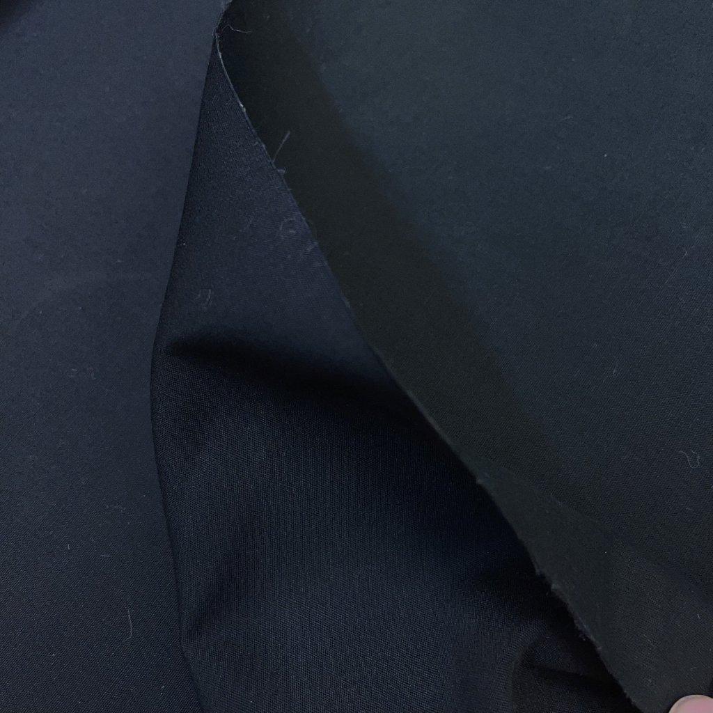 Černé double lepené plátno na trenchcoat, bavlna