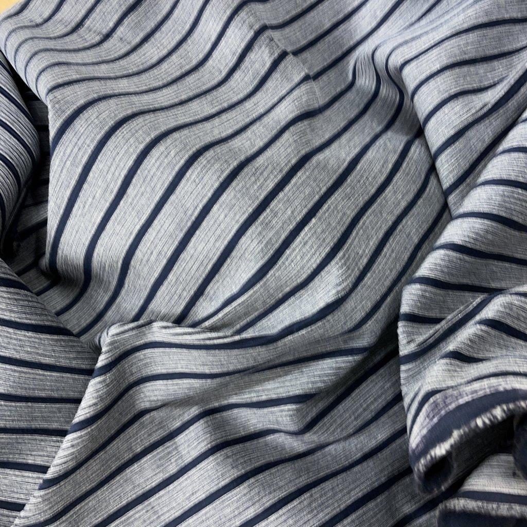 Manšestr modro-šedý proužek, bavlna